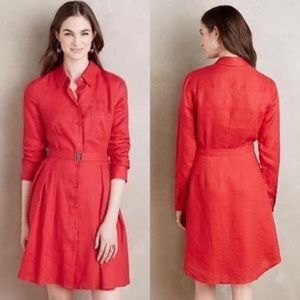 Anthropologie Dresses - Anthropologie HD in Paris Laila Red Shirtdress